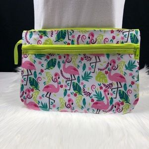 Cute flamingo sack with zipper pockets